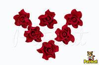 Цветы Розы Красные из фоамирана (латекса) диаметр 3 см 10 шт/уп