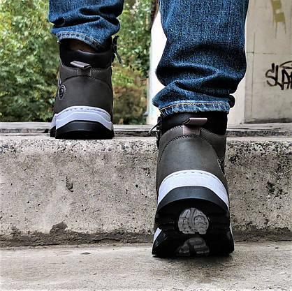 Ботинки ЗИМНИЕ Мужские Кроссовки МЕХ Серые Прошиты (размеры: 42,43,44) - 737, фото 2