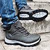 Ботинки ЗИМНИЕ Мужские Кроссовки МЕХ Серые Прошиты (размеры: 42,43,44) - 737, фото 4