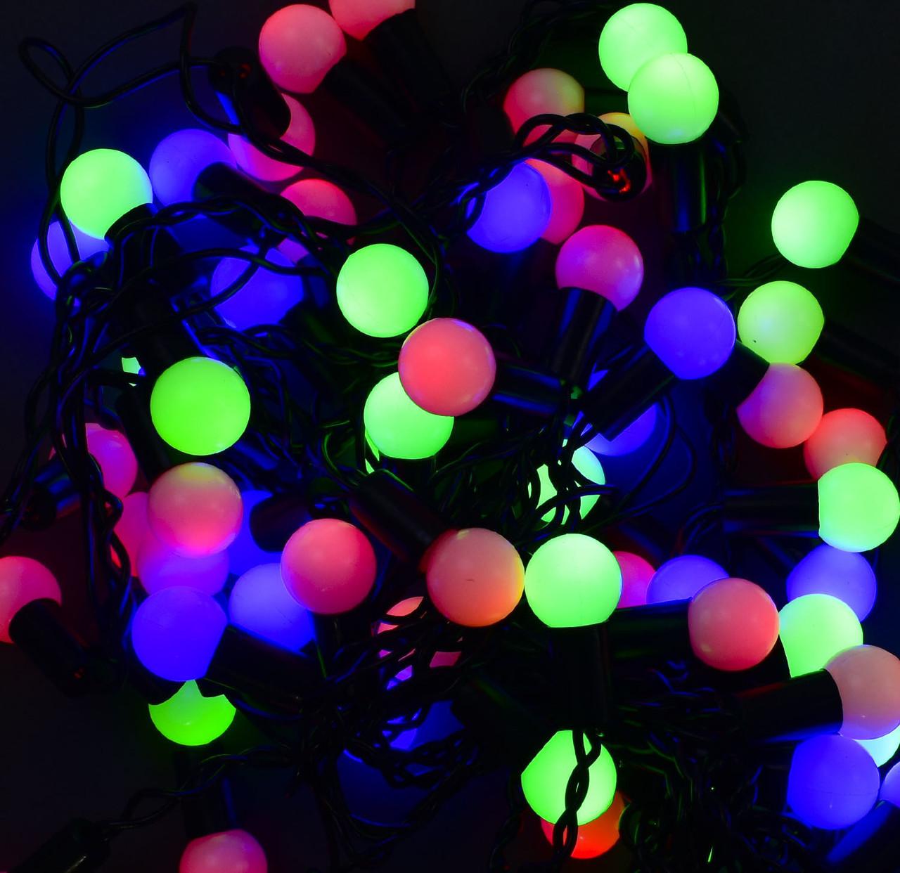 Гирлянда-штора светодиодная 60 лампочек, провод 3 метра, длина веток 70 см, мультиколор