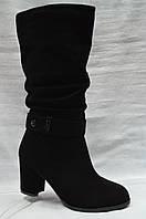 Черные  зимние сапоги Malrostti.Широкое голенище., фото 1