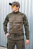 Убакс боевая рубашка из ткани CoolPass antistatic длинный рукав хаки
