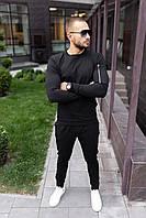 Мужской черный спортивный костюм с замочками, фото 1