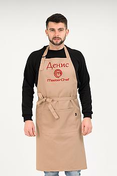 Фартук Latte для повара | Фартук с вышивкой