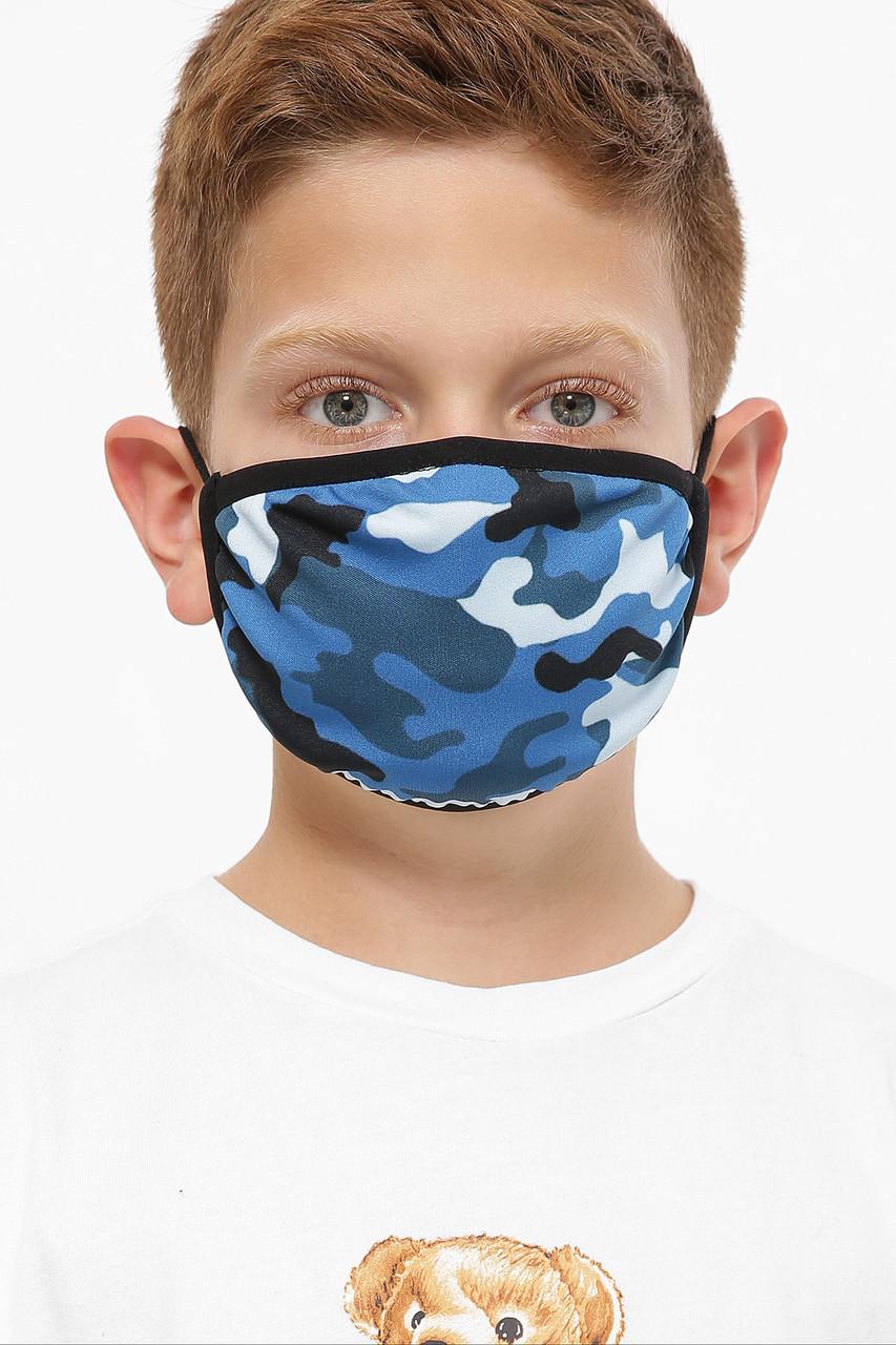 Детская маска защитная многоразовая с принтом