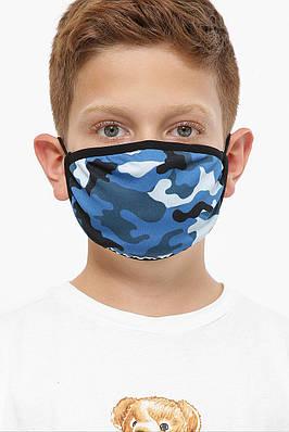 Дитяча маска захисна багаторазова з принтом