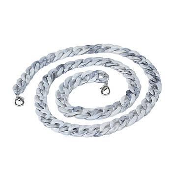 Акриловая цепь 120 см, Серый меланж
