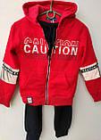 Спортивный костюм на мальчика теплый GRACE арт 86976 красный с синим 134-152 р., фото 4