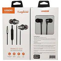 Вакуумные наушники с микрофоном LEGEND LD-1014