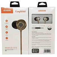 Вакуумные наушники с микрофоном LEGEND LD-1013