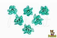 Цветы Розы тиффани из фоамирана 3 см 10 шт/уп