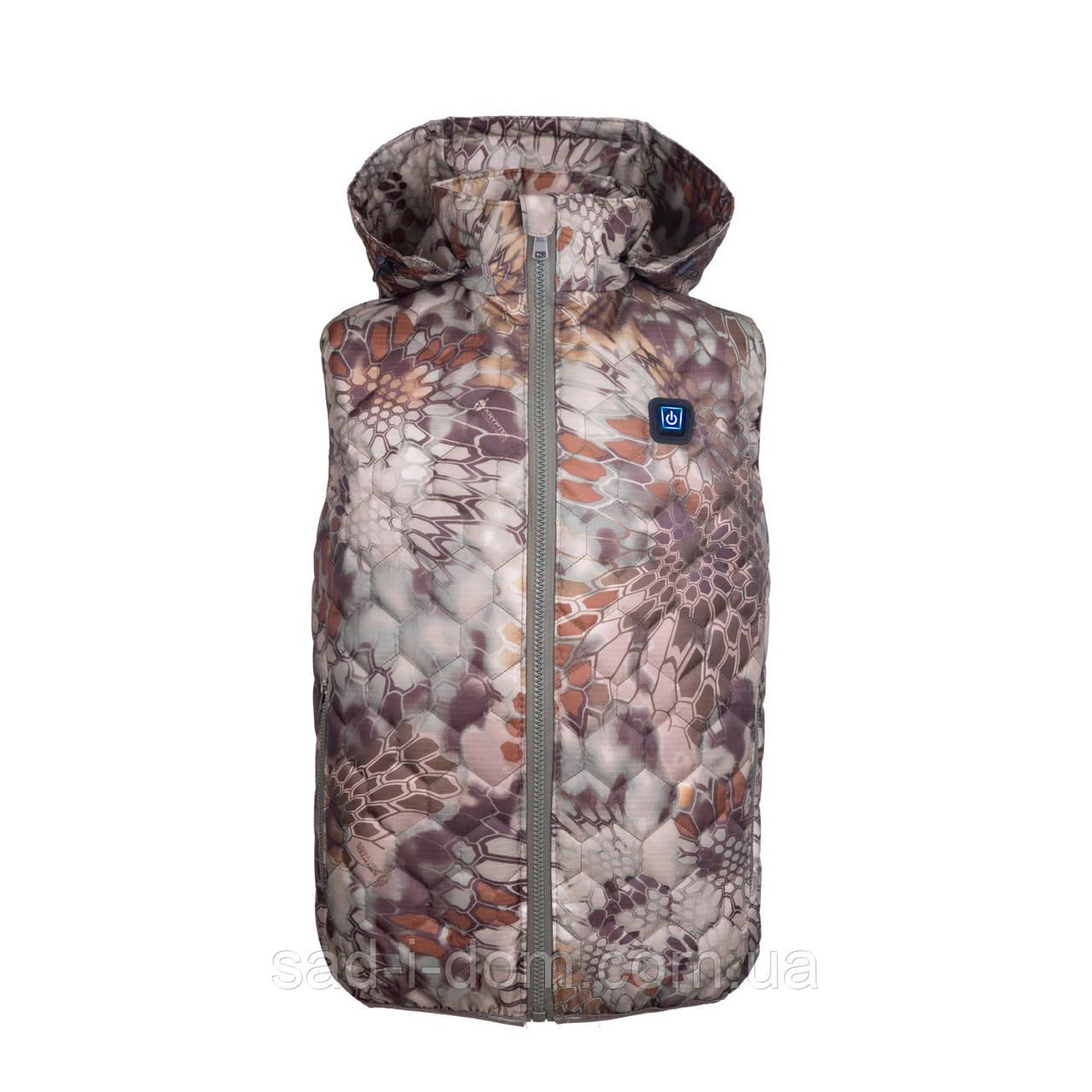 Жилет с подогревом для охоты и рыбалки  TM Теплий Пан Размер:S/M/L/XL/2XL/3XL, комуфляж
