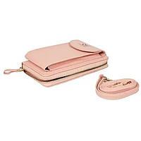 Сумка клатч кошелек с карманом для телефона Wallerry Zl-8591 РОЗОВЫЙ