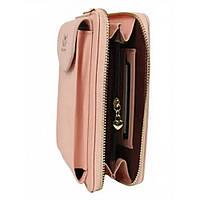 Сумка клатч кошелек с карманом для телефона Wallerry Zl-8591 ПУДРОВЫЙ