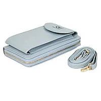 Сумка клатч кошелек с карманом для телефона Wallerry Zl-8591 ГОЛУБОЙ