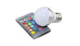 Лампа светодиодная Е27 RGB 5W 350LM с пультом  LEMANSO LM734