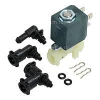 Клапан электромагнитный с переходниками, прокладками и скобами для кофеварки DeLonghi 5513225701