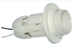 Патрон LEMANSO Е27 пластиковый  резьба+кольцо  провода 15 см  LM101
