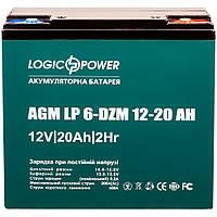Аккумулятор тяговый свинцево-кислотный AGM LogicPower LP 6-DZM-20 под болт