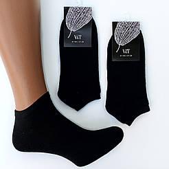 Короткие демисезонные мужские носки V&T socks гладь однотонные