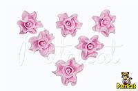 Цветы Розы Светло-розовые из фоамирана (латекса) 3 см 10 шт/уп