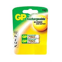 Аккумулятор 75АААHC-UC2 NIMH AAA. R03.750 mAh (GP)