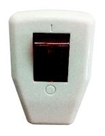 Вилка с заземлением Lemanso + кнопка красная, синяя  LMA002  (55001)