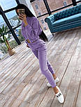 Жіночий костюм-трійка утеплений на флісі: толстовка на блискавці, топ і штани (в кольорах), фото 7