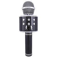 Колонка микрофон-караоке WS-858 Bluetooth (ЧЕРНЫЙ)