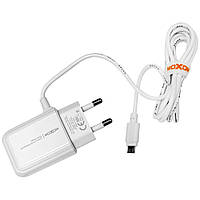 Сетевое зарядное устройство на 1 USB Moxom KH-66 Micro USB