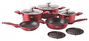 Набор посуды 10 предметов Bohmann BH-40-RED