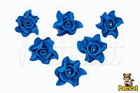 Цветы Розы Синие из фоамирана (латекса) диаметр 3 см 10 шт/уп, фото 1