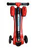 Детский самокат с турбиной и светящимися колесами музыкой и Bluetooth цвет красный., фото 2