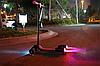 Детский самокат с турбиной и светящимися колесами музыкой и Bluetooth цвет красный., фото 4