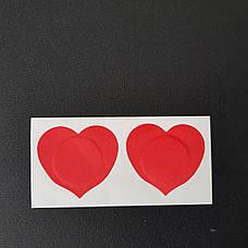 Наклейки на грудь сердечко - 412-02-3, фото 2