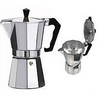 Кофеварка гейзерная Domatec DT-2709 (на 9 чашек)