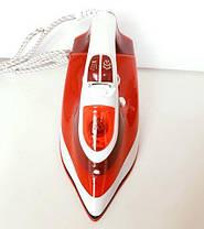Керамический Утюг с Регулируемым Потоком Пара 2200W Красный (керамика 2298), фото 2