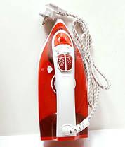 Керамический Утюг с Регулируемым Потоком Пара 2200W Красный (керамика 2298), фото 3