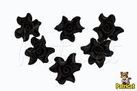 Цветы Розы Черные из фоамирана (латекса) 3 см 10 шт/уп