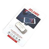 Флешка с цепочкой 2.0 4Gb ATLANFA AT-U1