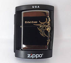 Зажигалка ZIPPO Бензиновая (Tribal Cross), фото 2