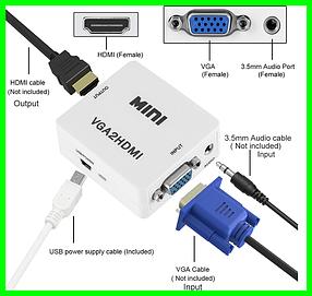 Конвертер Преобразователь с VGA в HDMI - 5027