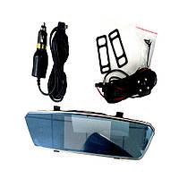 Автомобильный видеорегистратор зеркало на две камеры  W510