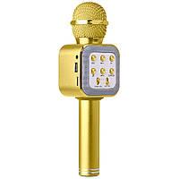Беспроводной Bluetooth микрофон WS-1818 (ЗОЛОТО) + ЧЕХОЛ