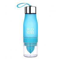 Пляшка для води та напоїв H2O Water Bottle з соковижималкою 650 мл