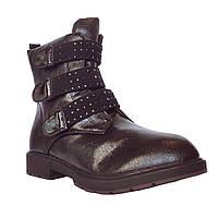 Демисезонные сапоги девочкам Размеры 32, 33, 34, 35, 36, 37 Высокие теплые осенние черные утепленные ботинки