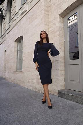 Платье облегающего сулуэта с шифоновыми рукавами, фото 2