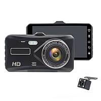 """Автомобильный видеорегистратор на две камеры с сенсорным дисплеем 4"""" HDR Full HD 4"""" А6Т"""