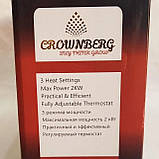 Конвекторный обогреватель CB 2000 Crownberg электрический для дома квартиры кухни с терморегулятором, фото 5