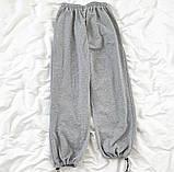 Спортивные трикотажные штаны (джоггеры) с фиксатором на манжете, Р-р.42-44, 44-46, 48-50 Код 489Ц, фото 3